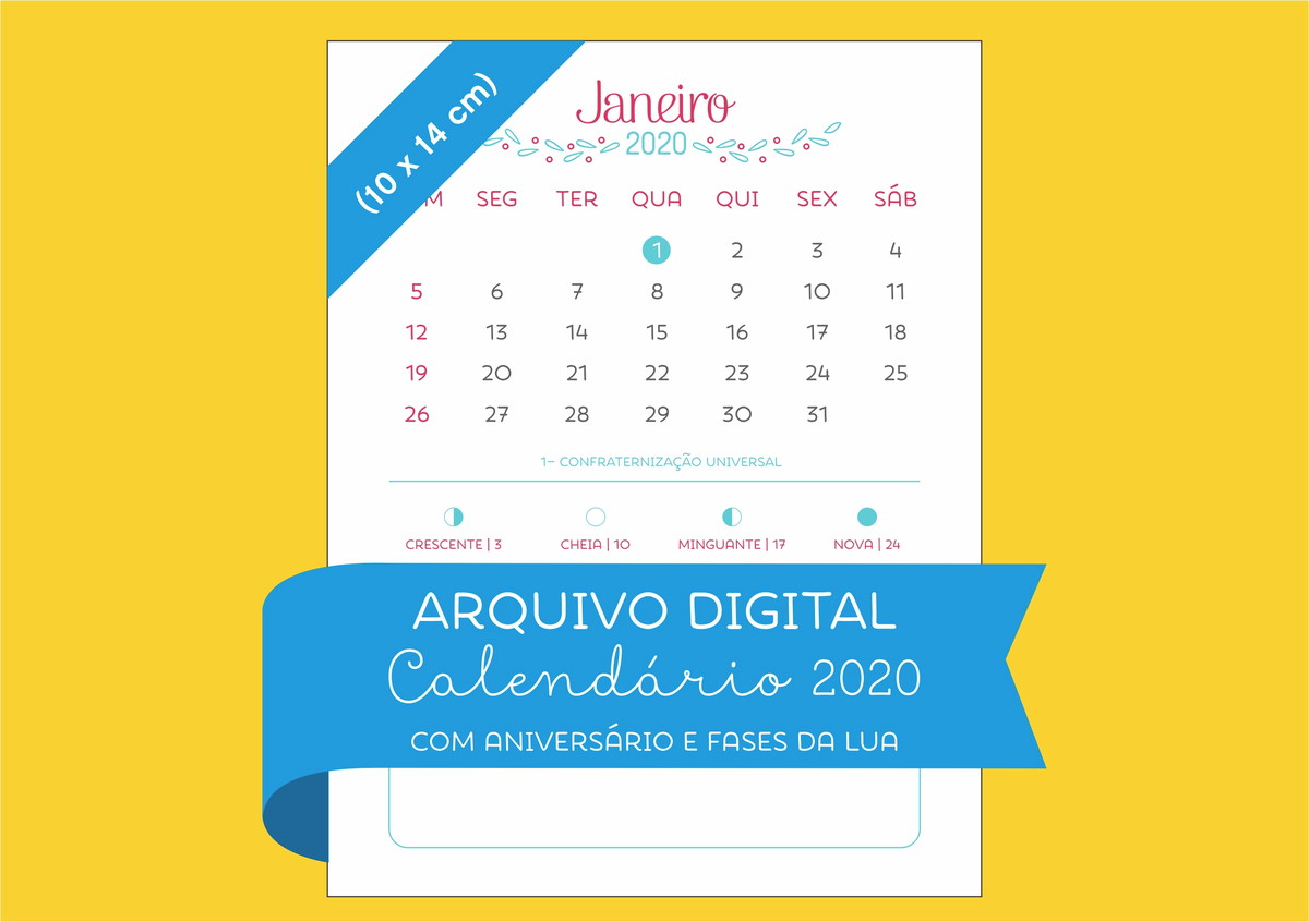 Calendario 2020 2020.Arquivo Digital Calendario 2020