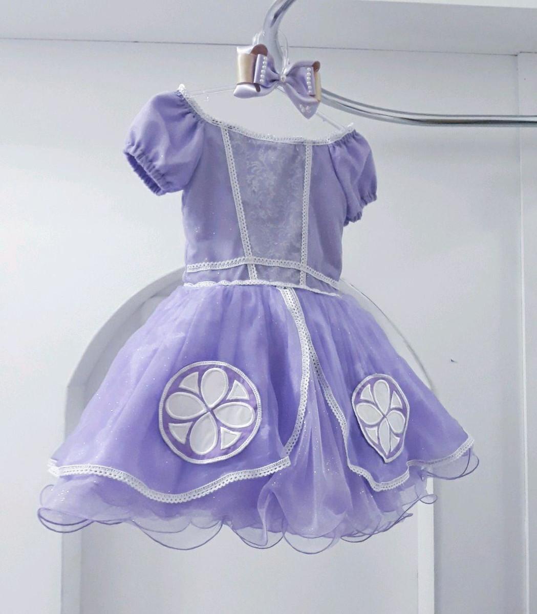 Vestido Princesa Sofia Saia Curta