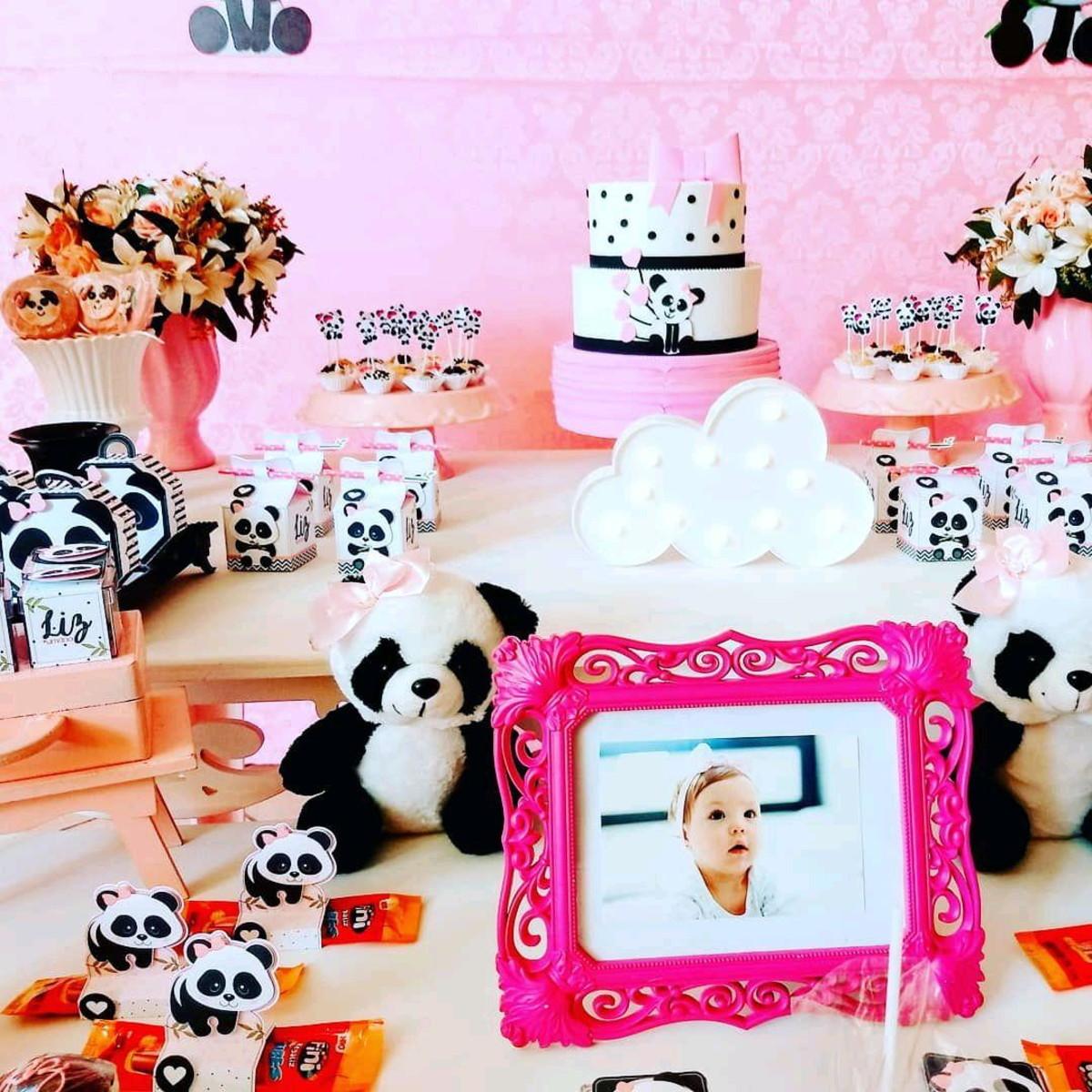 Decoração panda rosa