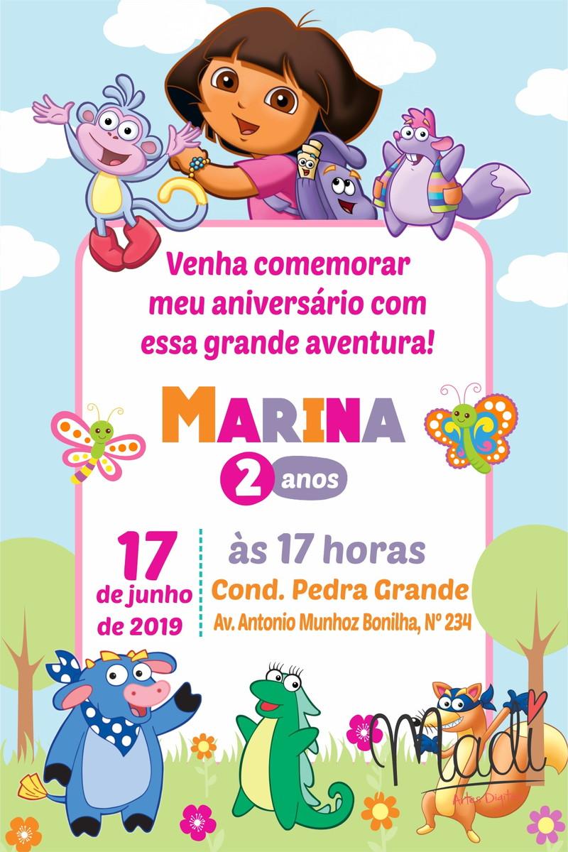 Convite Digital Dora Aventureira No Elo7 Madi 103de15