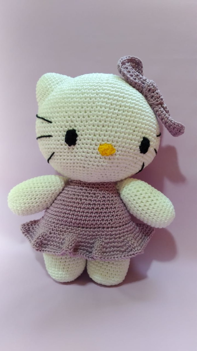 😺 HELLO KITTY 🌹Tutorial de AMIGURUMI - YouTube | 1200x674
