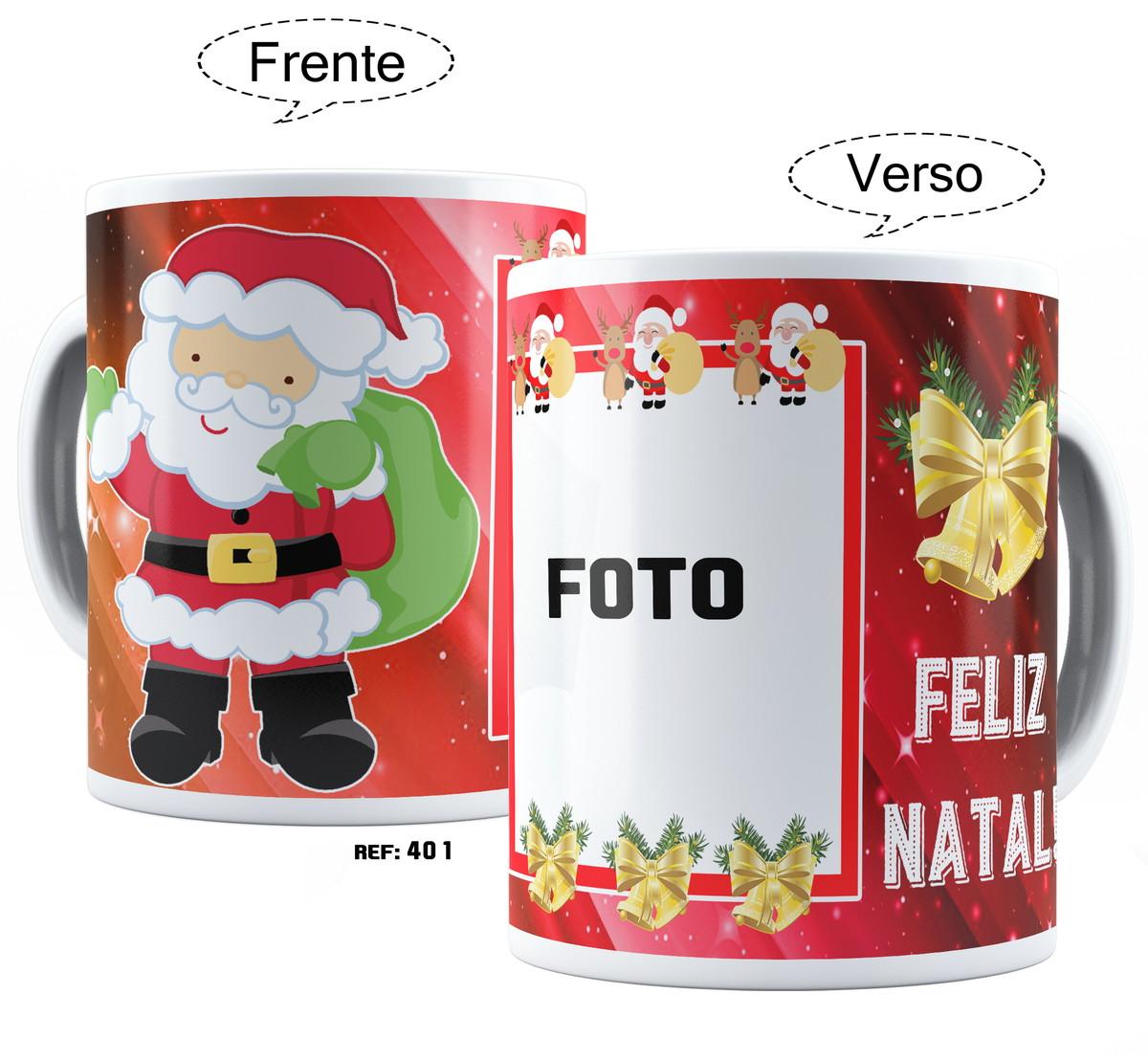 Caneca De Natal Com Foto E Frase Personalizada