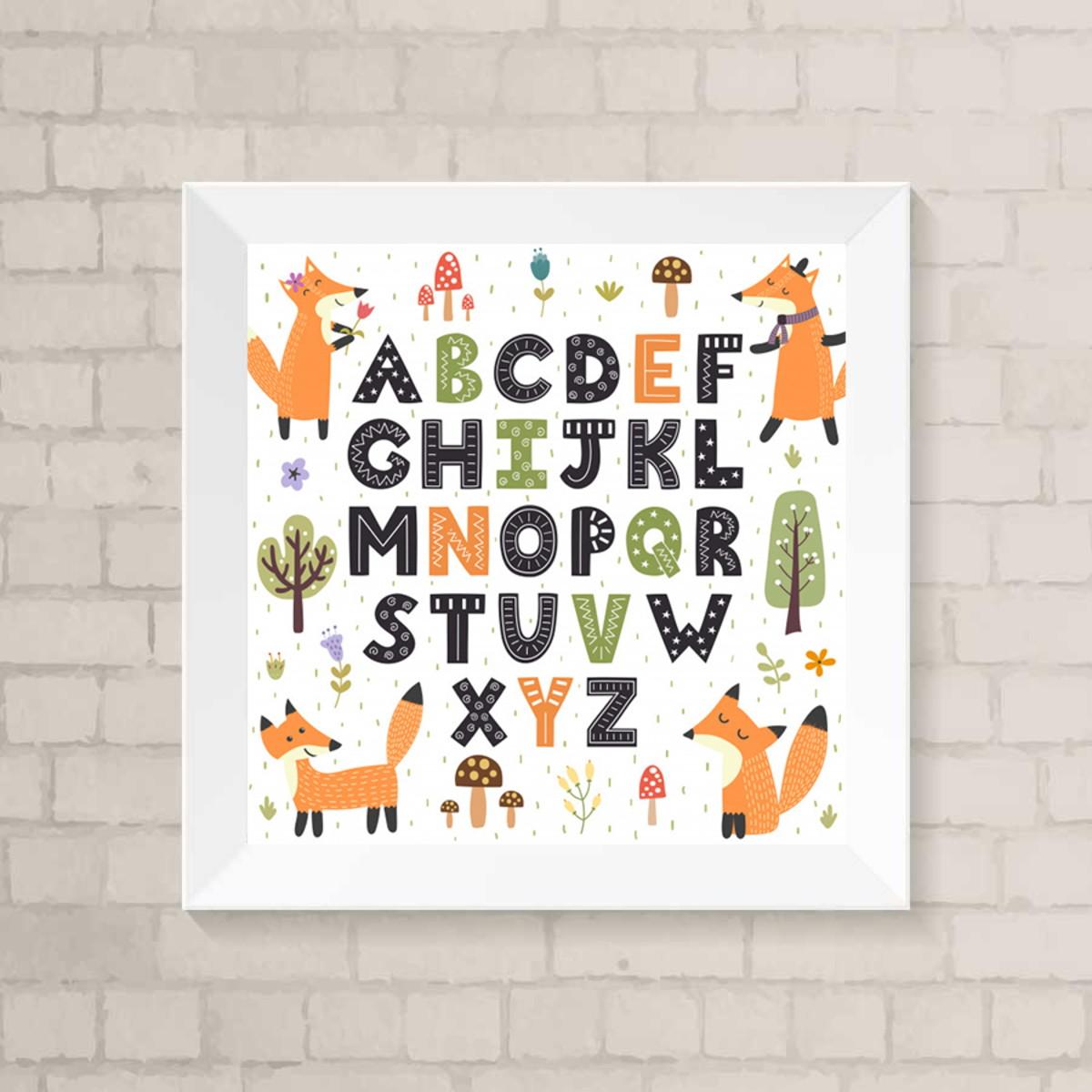 Poster Digital Arte P Decoracao Quarto Infantil Alfabeto No Elo7