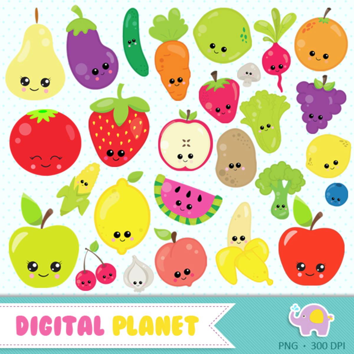 Kit Digital Frutas E Legumes No Elo7 Digital Planet 104e864