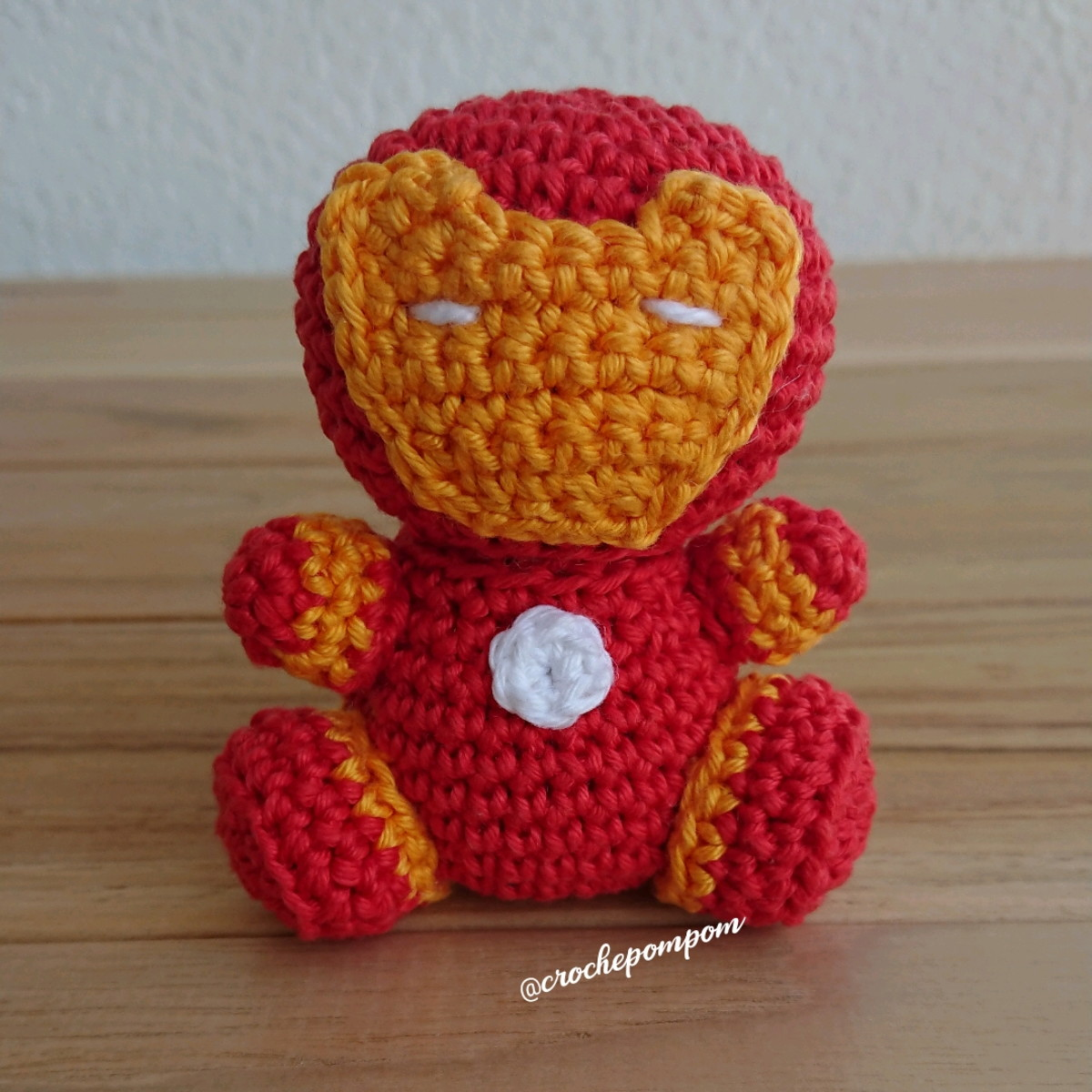 Iron Man Tony Stark crochet amigurumi chibi plush doll Marvel ... | 1200x1200