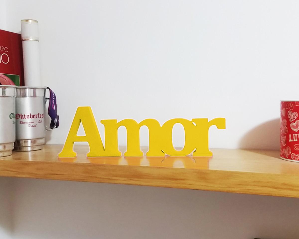 Image of: Amor Amarelo Palavra Decoracao Sala No Elo7 Gaspan Cbbdf1