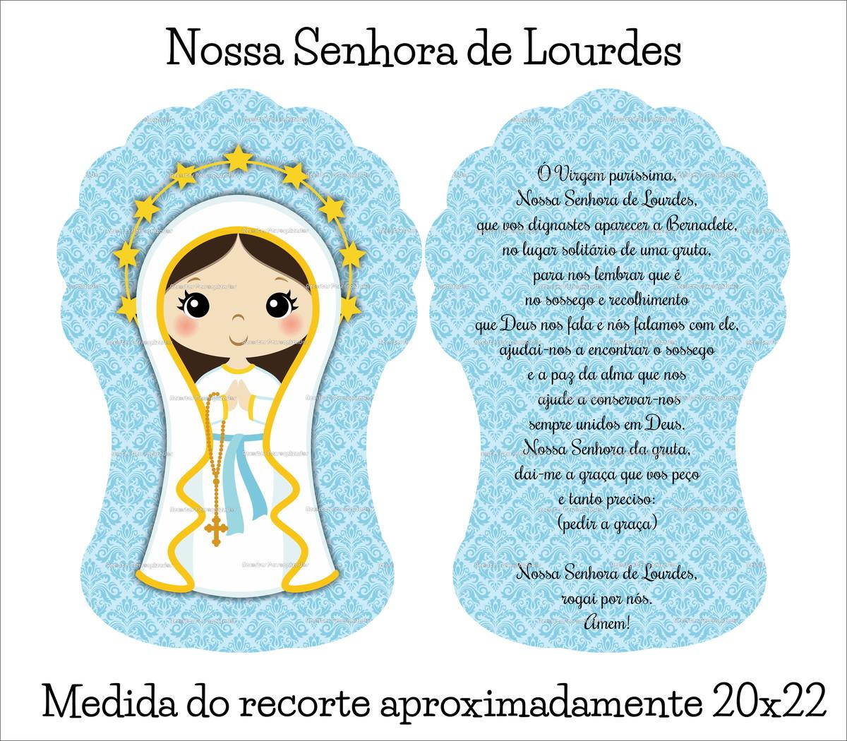 Recorte Em Tecido Naninha P Nossa Senhora De Lourdes No Elo7