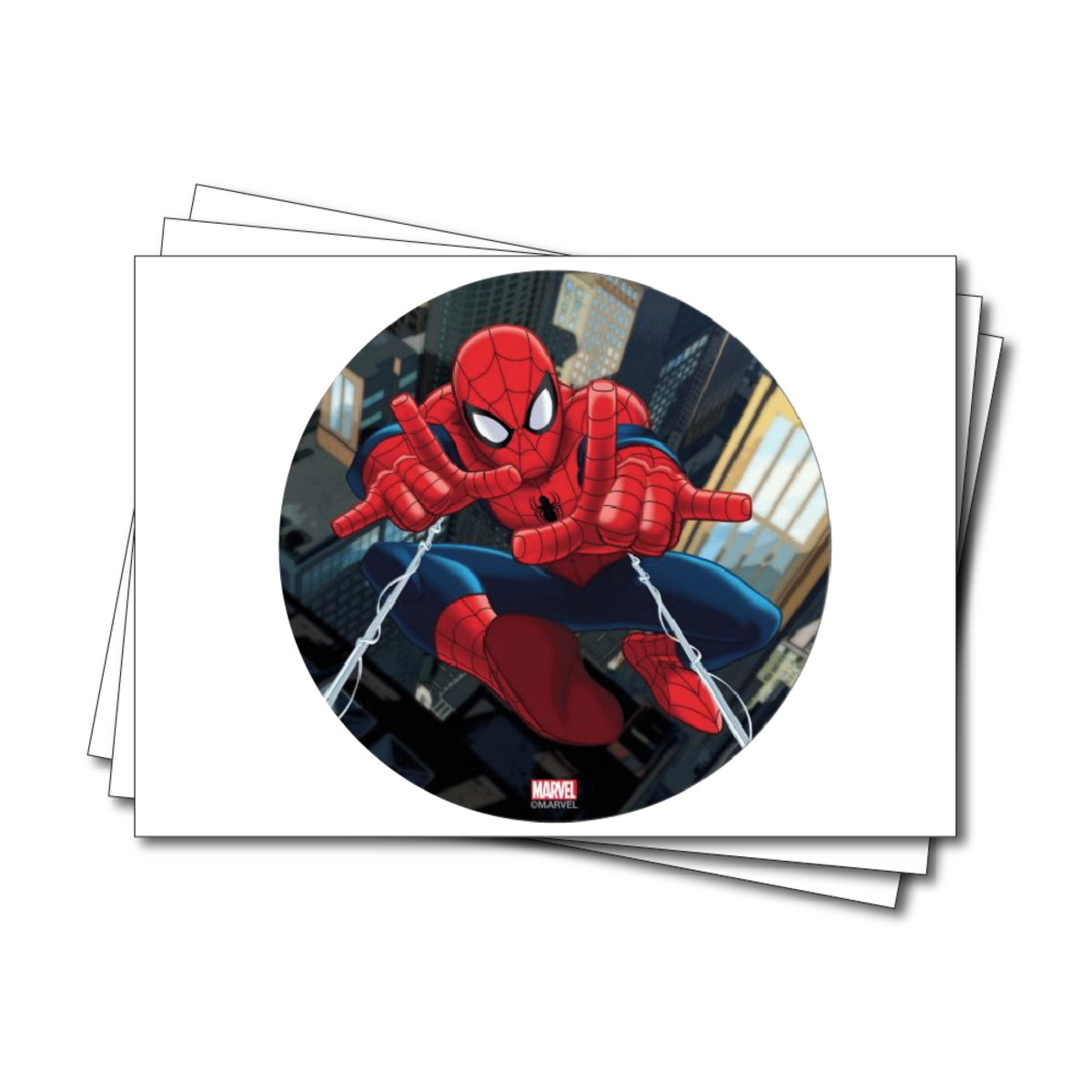 Papel De Arroz Do Desenho Animado Do Homem Aranha Marvel No Elo7