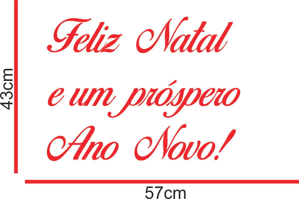 Adesivo Feliz Natal E Próspero Ano Novo Vitrine Porta De Vid