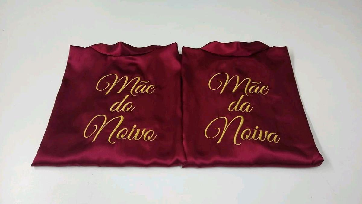 Kit 2 Robe De Cetim Mae Da Noiva Mae Do Noivo No Elo7 Q Bella Noivas 107b95d