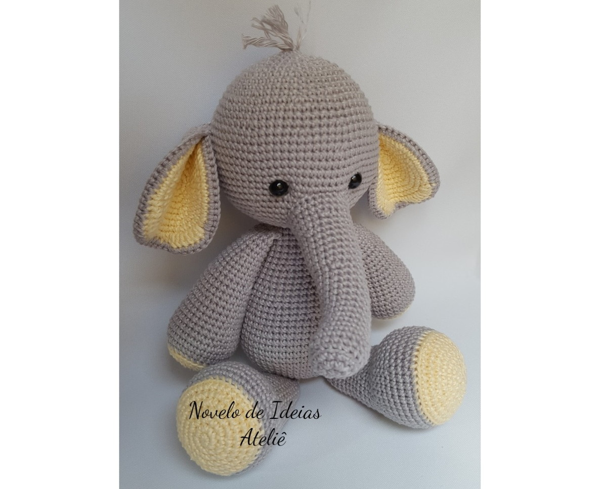 Elefante Amigurumi | Crochet elephant pattern, Crochet patterns ... | 967x1200