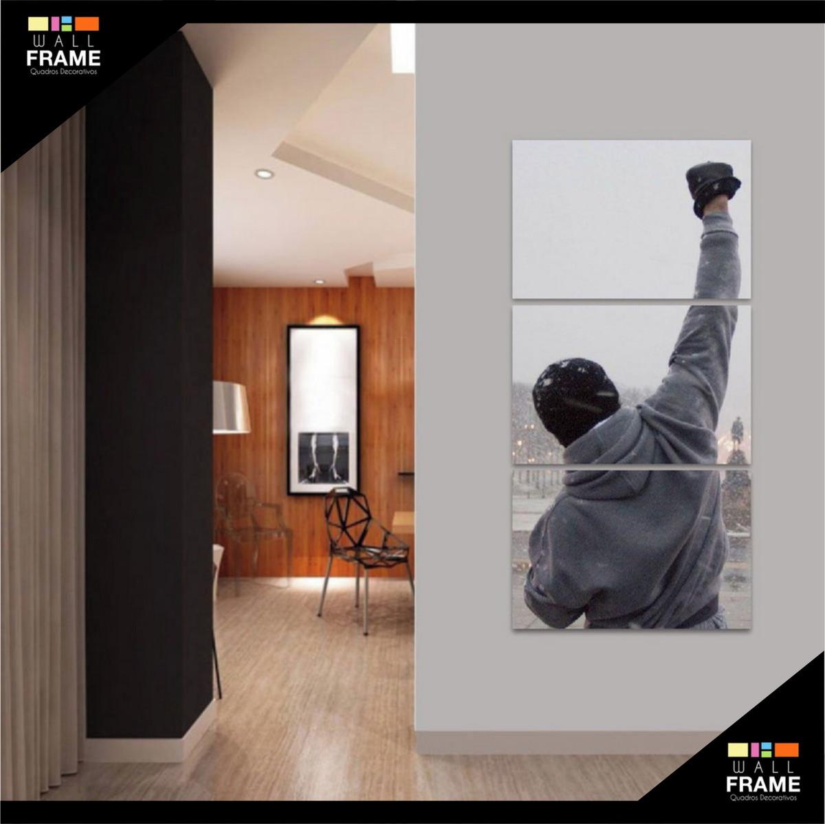 Quadro Rocky Balboa Motivacional Filmes Vertical 3 Peças