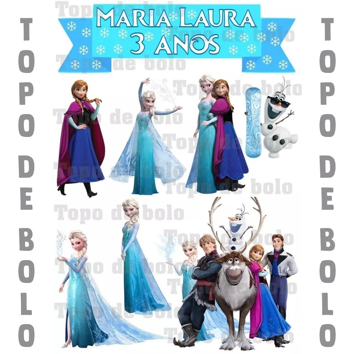 Topo De Bolo Digital Frozen Para Imprimir No Elo7 Meu Niver