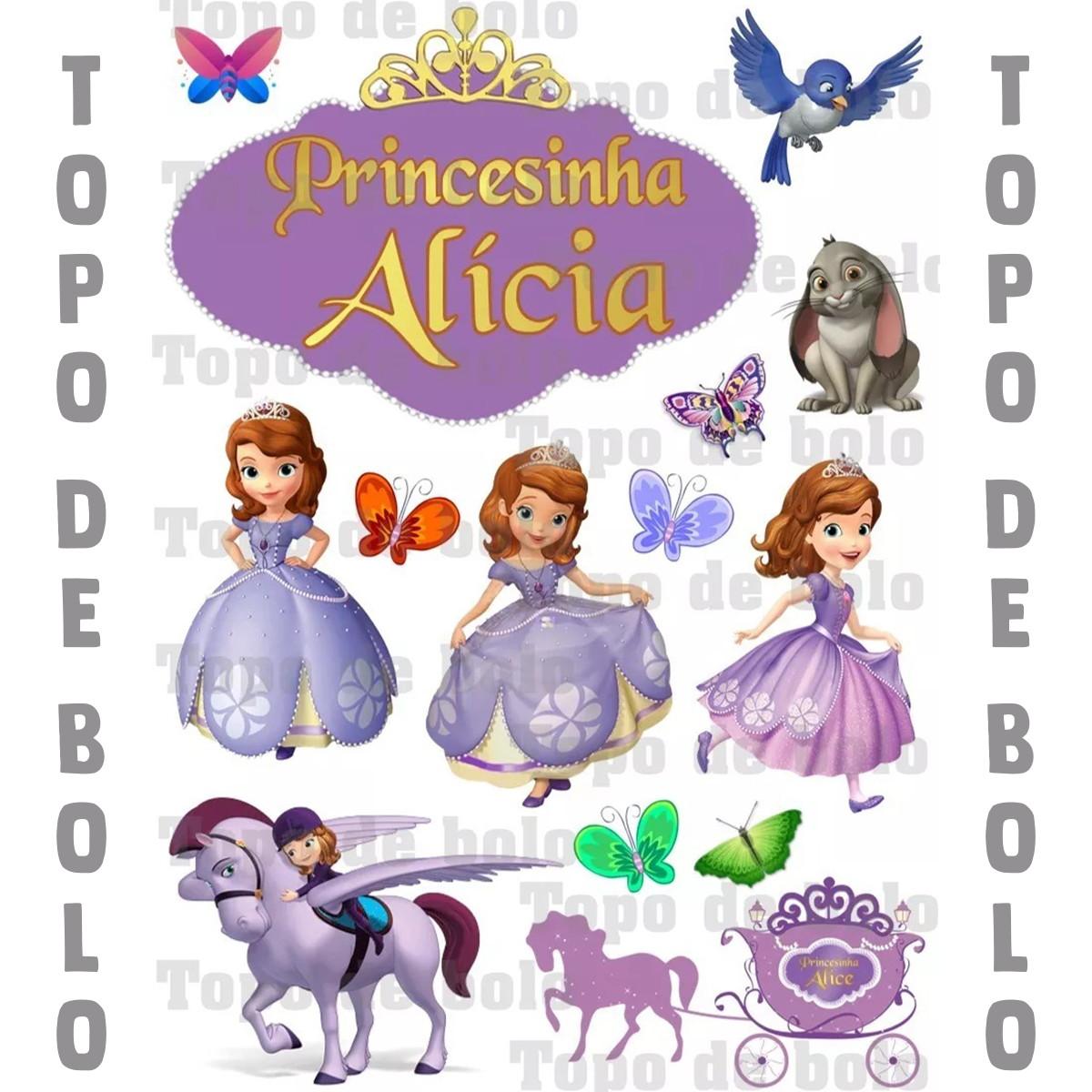Topo De Bolo Digital Princesinha Sofia Para Imprimir No Elo7