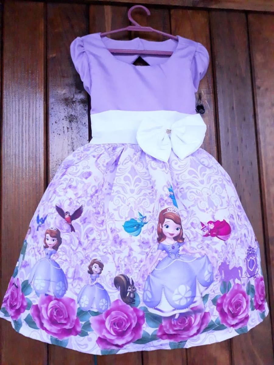 Vestido Princesa Sofia Informar O Tamanho Por Mensagem