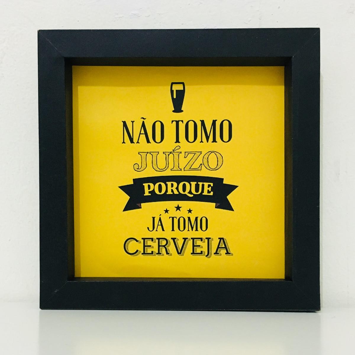 Quadro Decorativo Papel Frases Cerveja