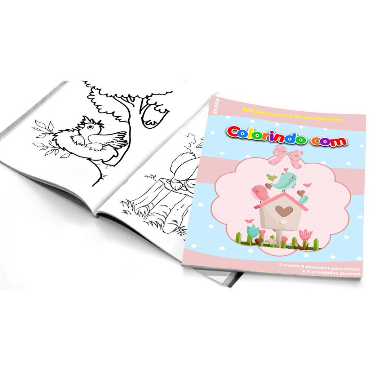 5 Cadernos De Colorir Jardim Encantado No Elo7 Belas Cores