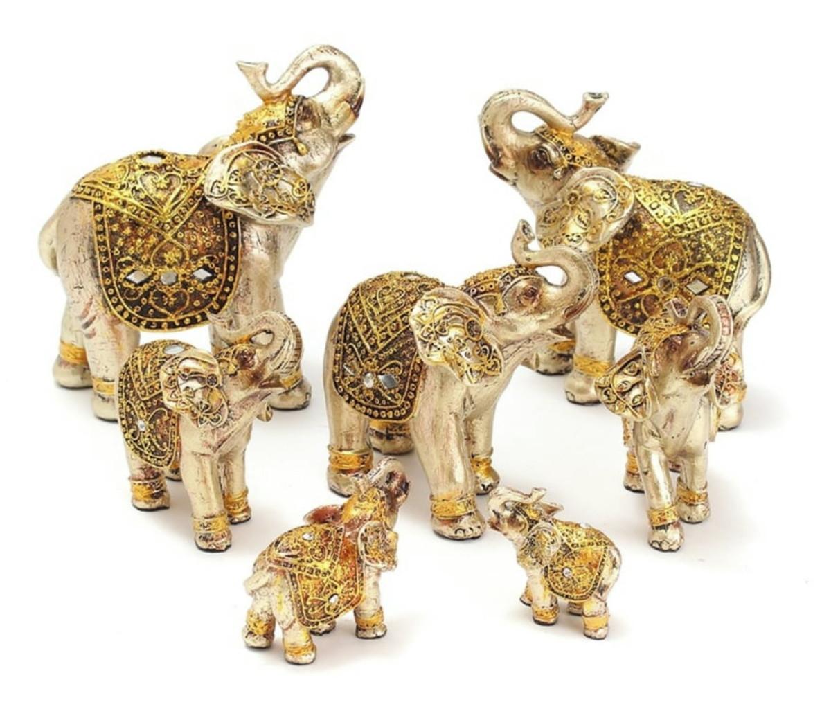 Conjunto Elefantes Da Sorte Estátuas Feng Shui no Elo7 | Althea ...
