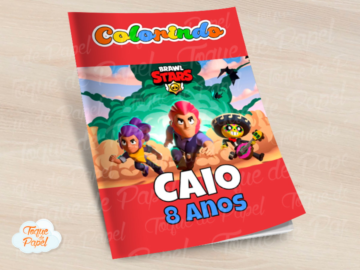 Revista Colorir Brawl Stars No Elo7 Toque De Papel 10ca4cd
