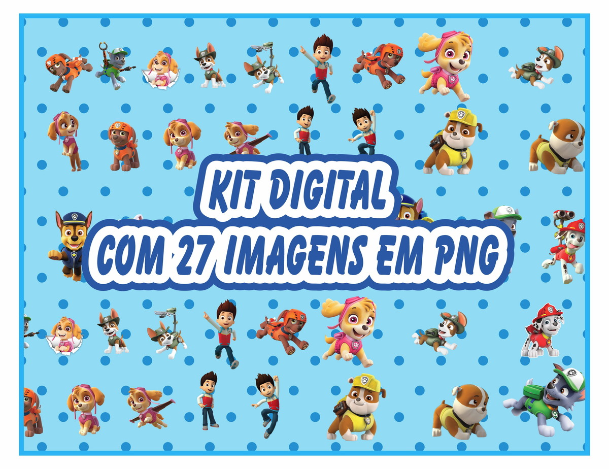 Kit Digital Patrulha Canina Png