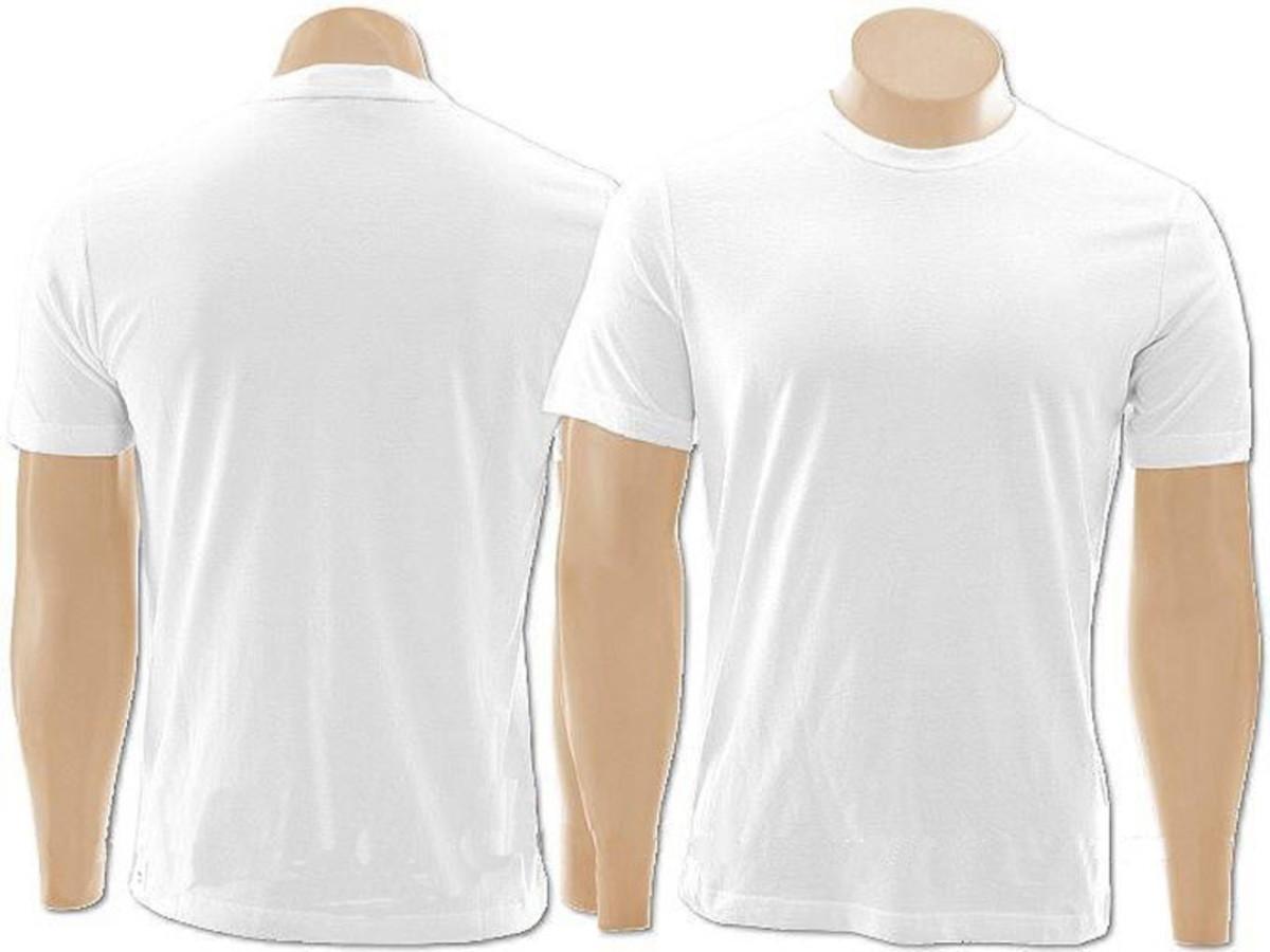 Camiseta 100% Algodão Branca no Elo7 Inverse Artigos Para Vo