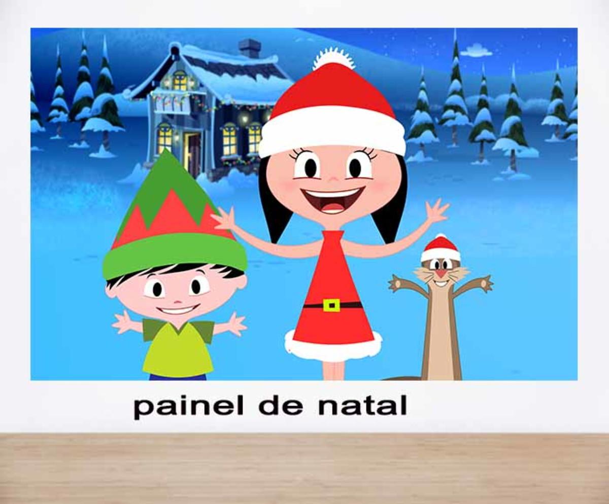 Painel De Natal Infantil Da Luna No Elo7 Artefoliaefestas 10f52ff