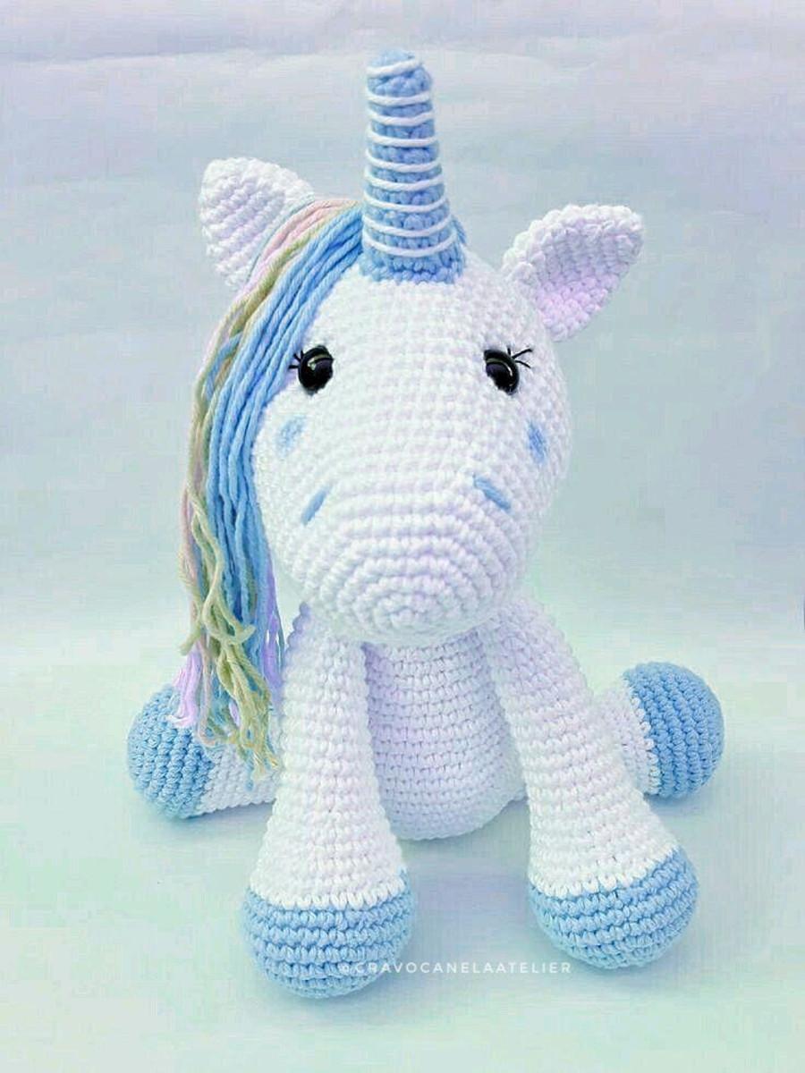 Unicornio Muñeco Peluche Tejido Crochet Amigurumi Sentado ... | 1200x900