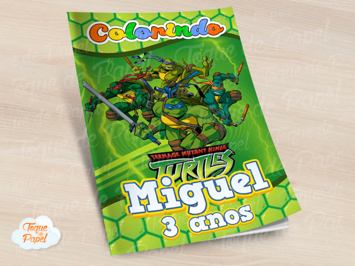 Revista Colorir Tartarugas Ninja No Elo7 Toque De Papel E15508