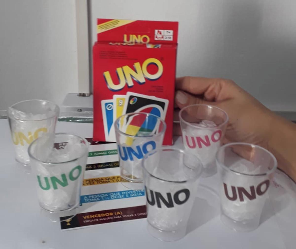 Uno Shot Uno Drink Jogo Uno Bebida Drunk No Elo7 Magenta