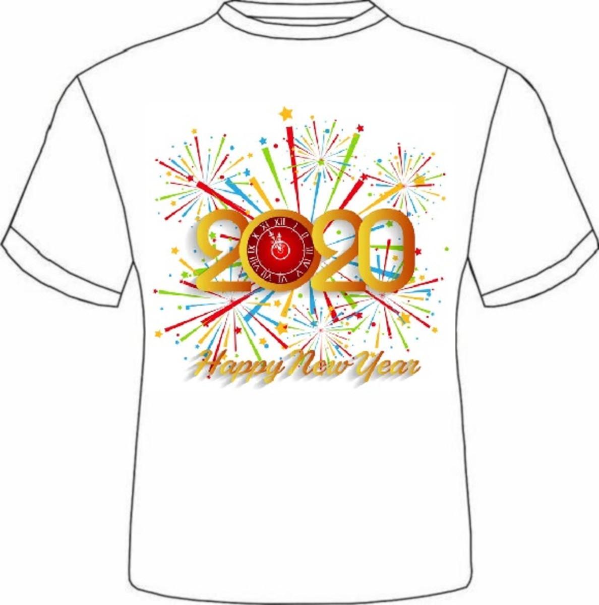 Linda Camiseta Camisa Feliz Ano Novo Reveillon 2020 Virada