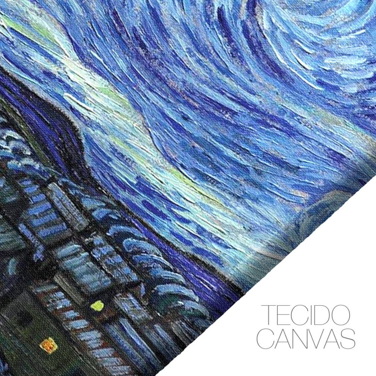 Quadro Decorativo Para Sala 120x60 Van Gogh Noite Estrelada No