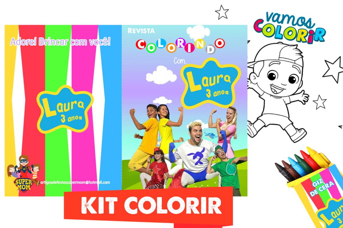 Kit Colorir Luccas Neto Os Aventureiros