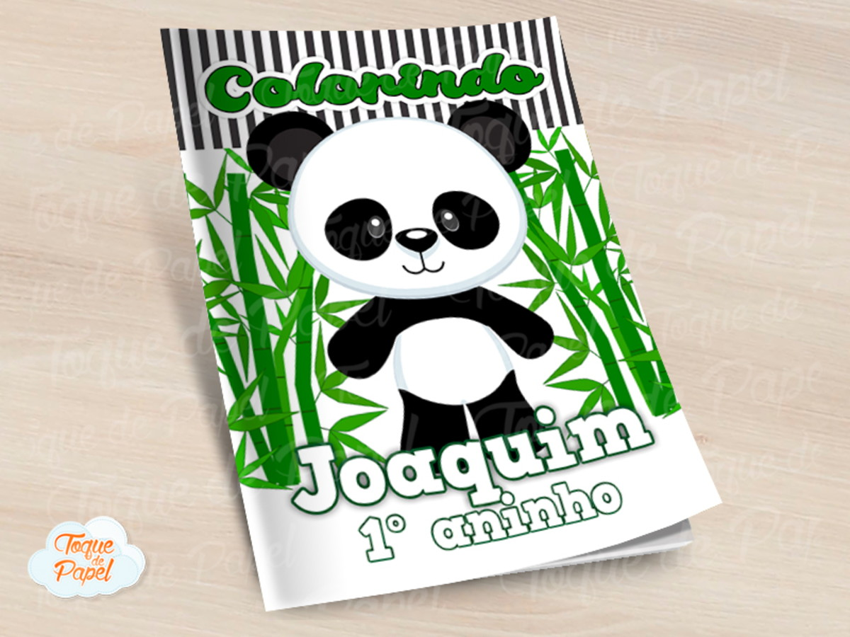 Revista Colorir Panda No Elo7 Toque De Papel 11235d3
