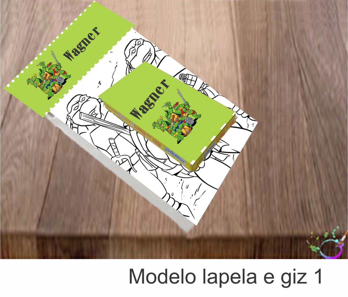 Desenhos De Colorir Caixa Com Giz De Cera Tartaruga Ninja No Elo7