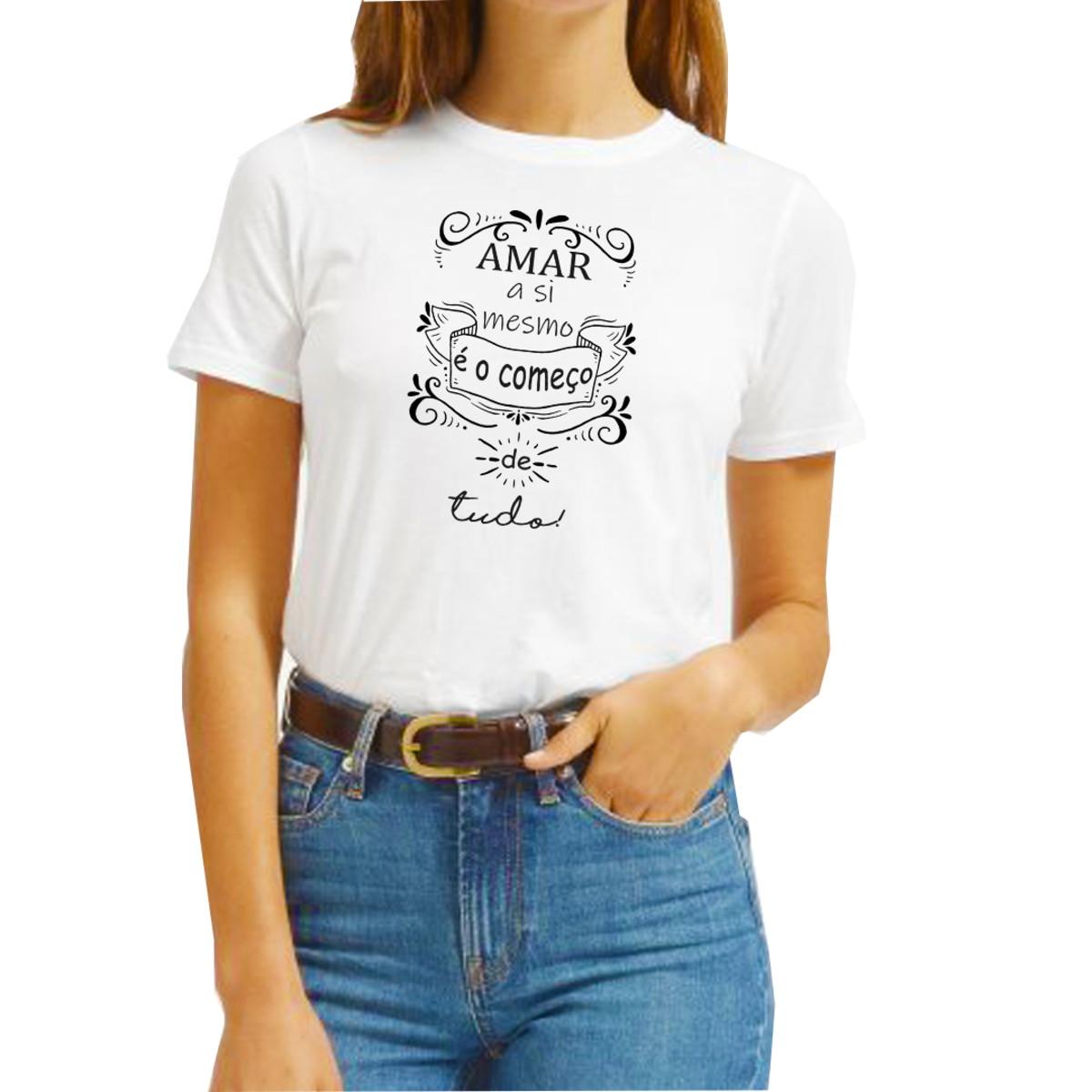 Camiseta Frase Criativa Estilosa Amor Próprio Motivacional