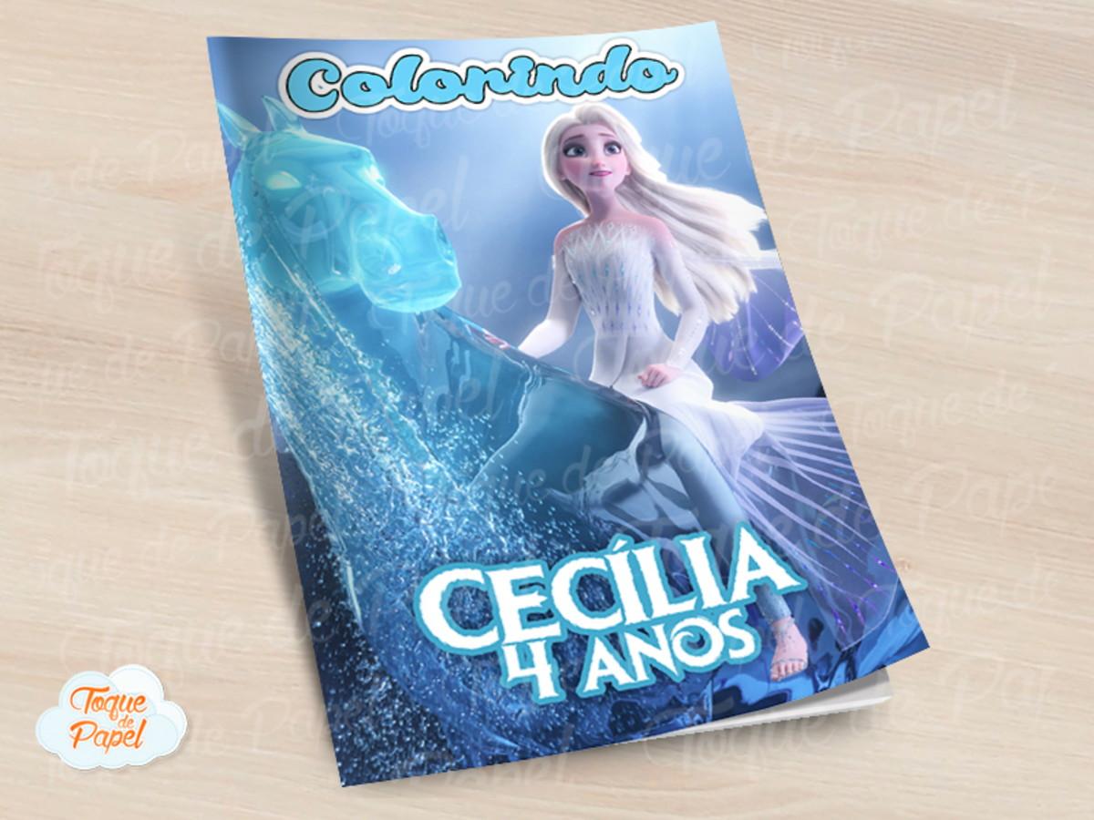 Revista Colorir Frozen 2 No Elo7 Toque De Papel 1133730
