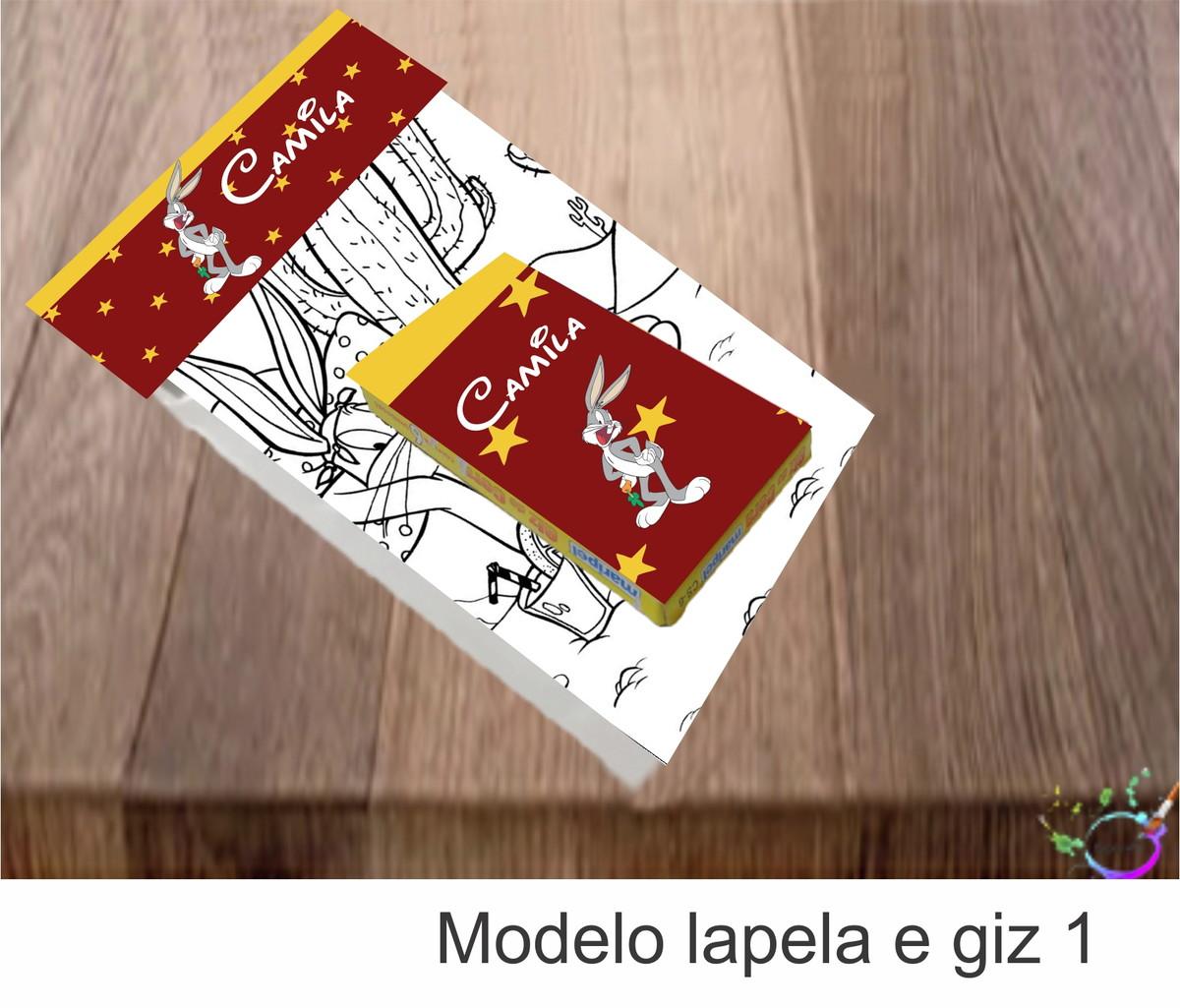Desenhos De Colorir Caixa Com Giz De Cera Pernalonga No Elo7