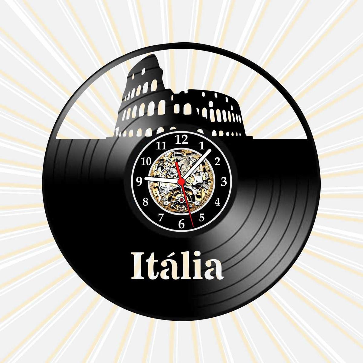 Relógio Parede Itália Paises Coliseu Roma Cidades Vinil LP no Elo7 ...