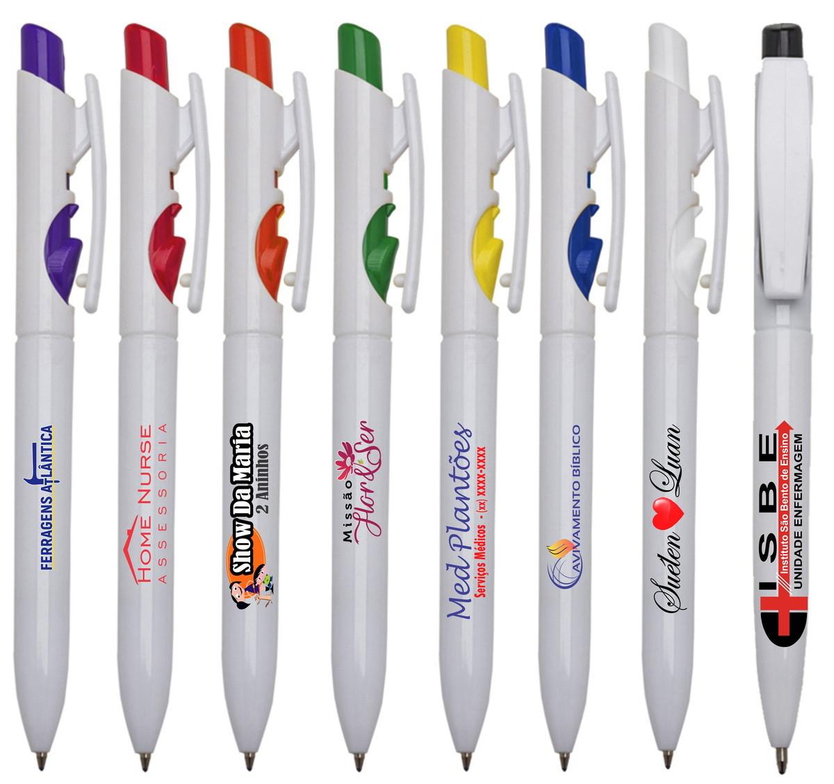Caneta Personalizada c/sua Logo Colorida -mod 1097 no Elo7 | Gráfica Print  Personaliza (CEF044)