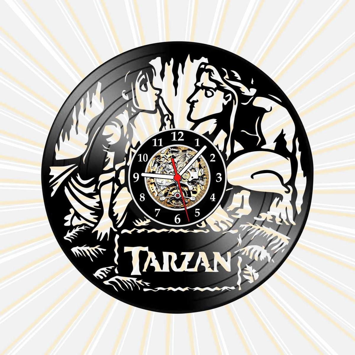 Relogio Tarzan Jane Desenho Filme Serie Tv Nerd Vinil Lp No Elo7