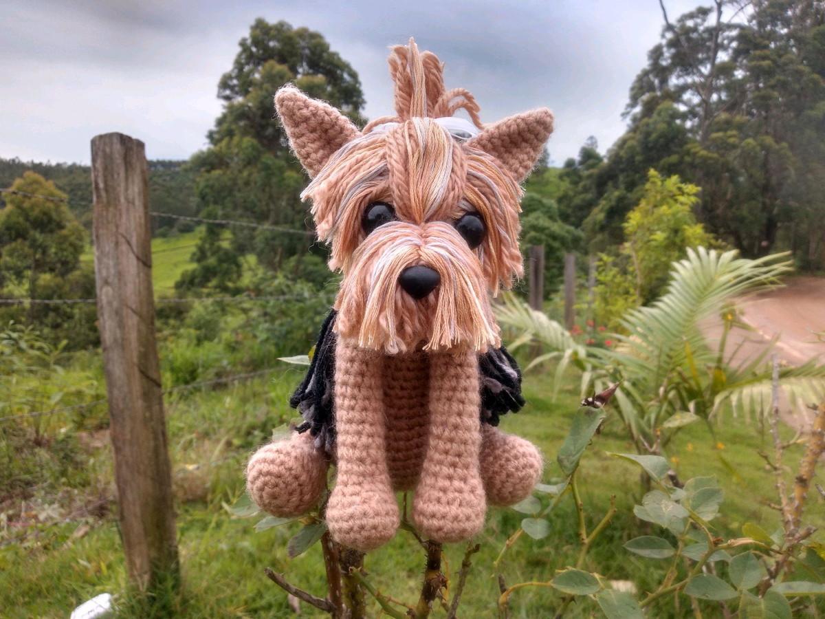 Crochet amigurumi Yorkshire terrier plush yorkie dog | Etsy | 900x1200