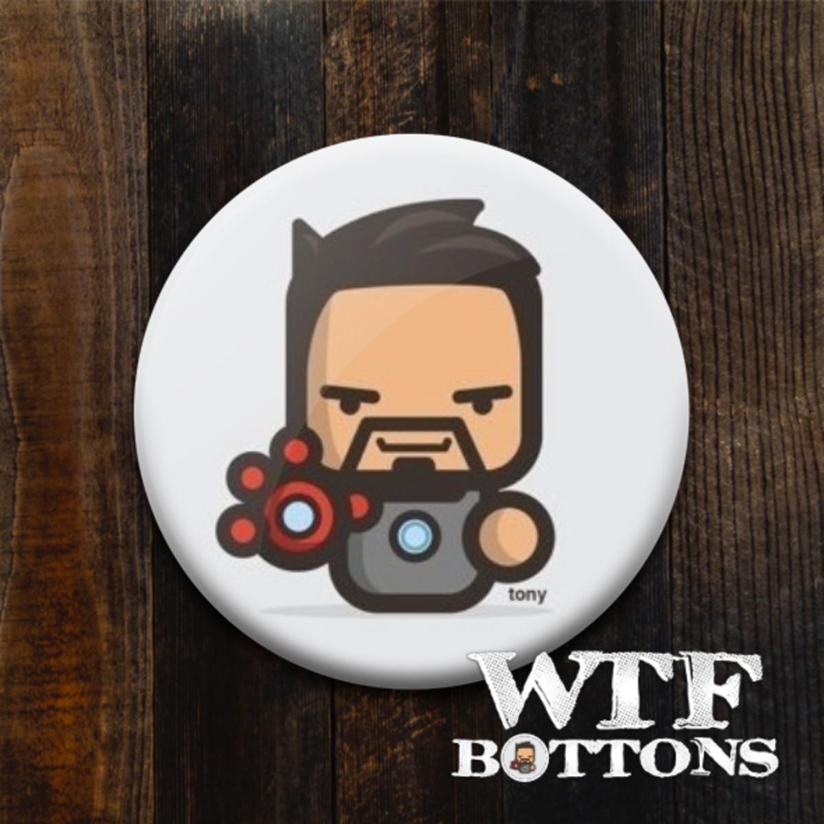 Botton Tony Stark Desenho No Elo7 Wtf Bottons E Imas 115d10e