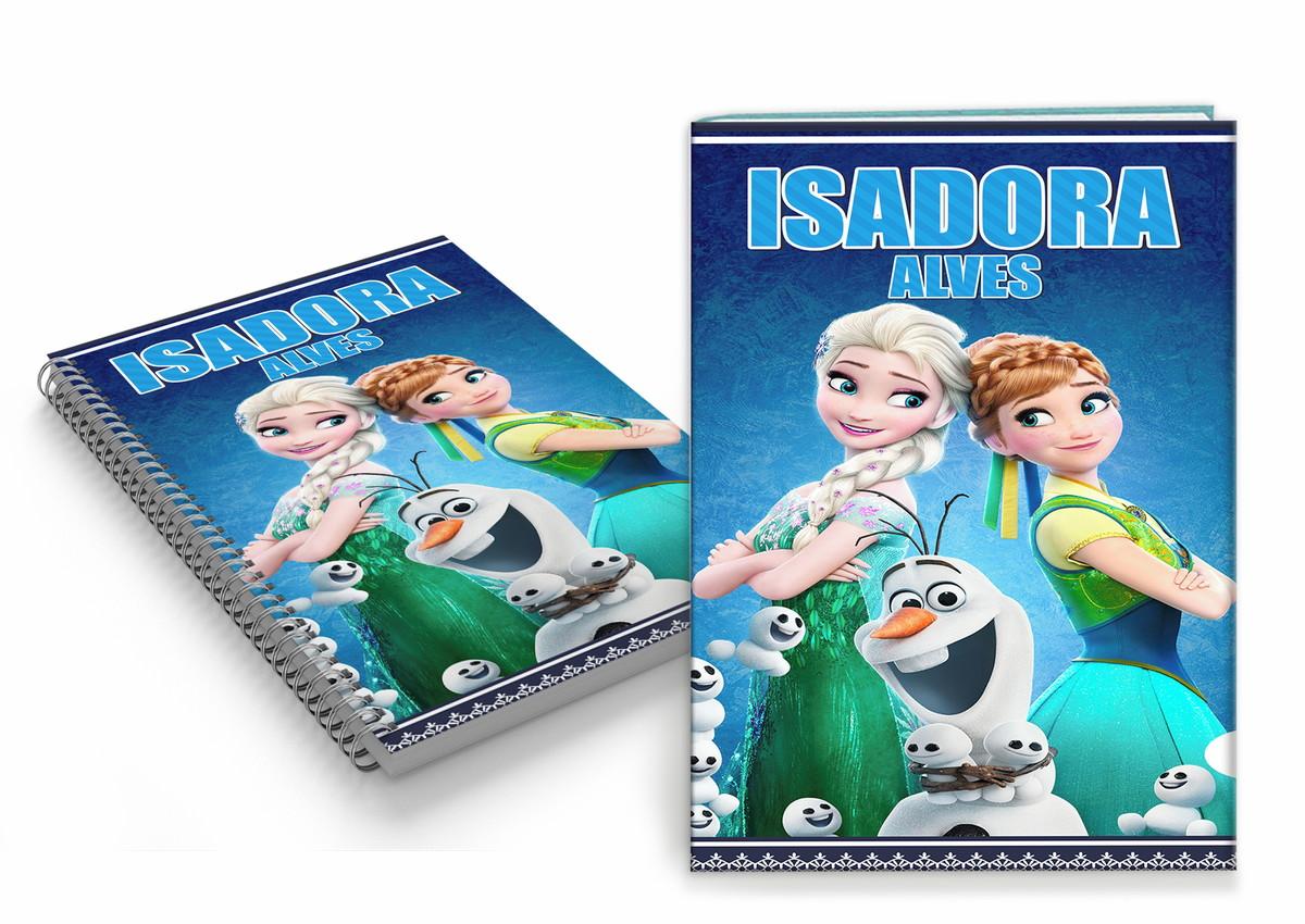 Capa De Caderno Personalizada Infantil Frozen Arte Digital No