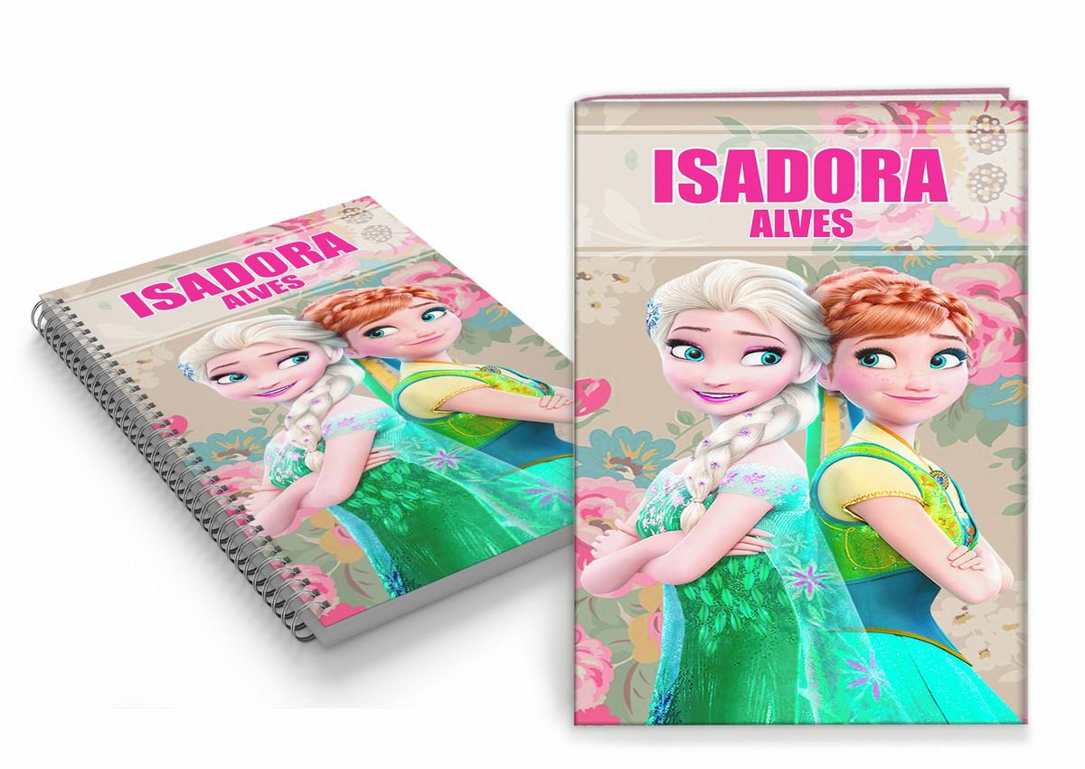 Capa De Caderno Infantil Personalizada Frozen Arte Digital No