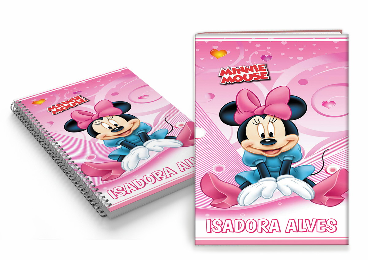 Capa De Caderno Personalizada Minnie Arte Digital No Elo7 Trem