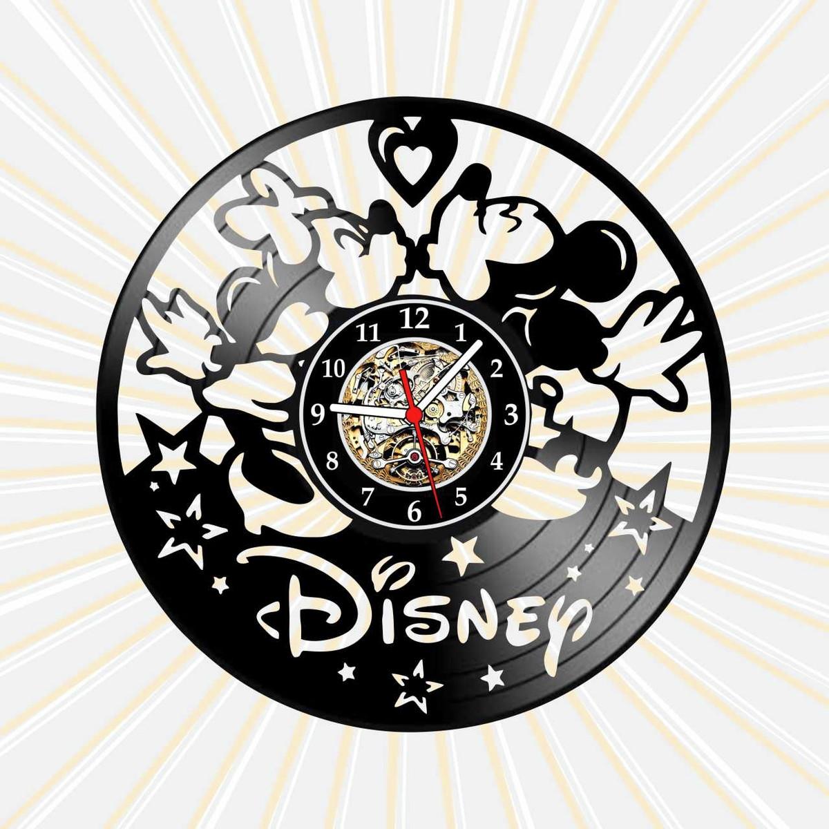 Relogio Disney Mickey Minnie Desenhos Tv Infantil Vinil Lp No Elo7