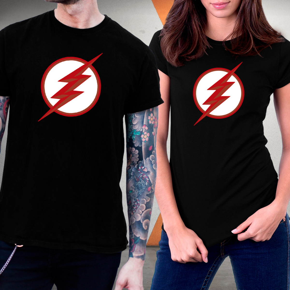 Camiseta The Flash Black Flash Blusa Series Flash Negro No Elo7 X Force The Anti Fashion Store 116821e