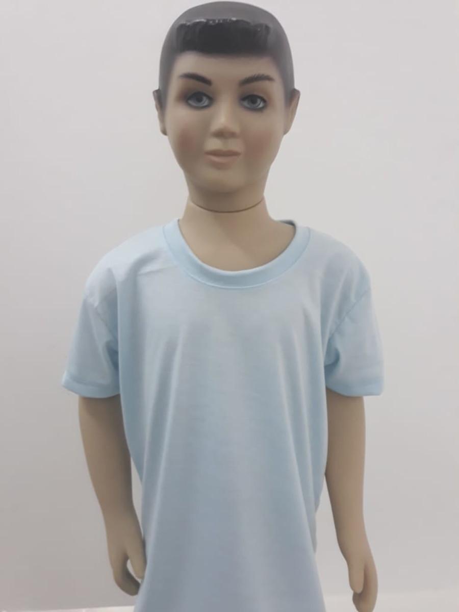 Camiseta Lisa Juvenil Azul Claro 100% Poliéster no Elo7 ...