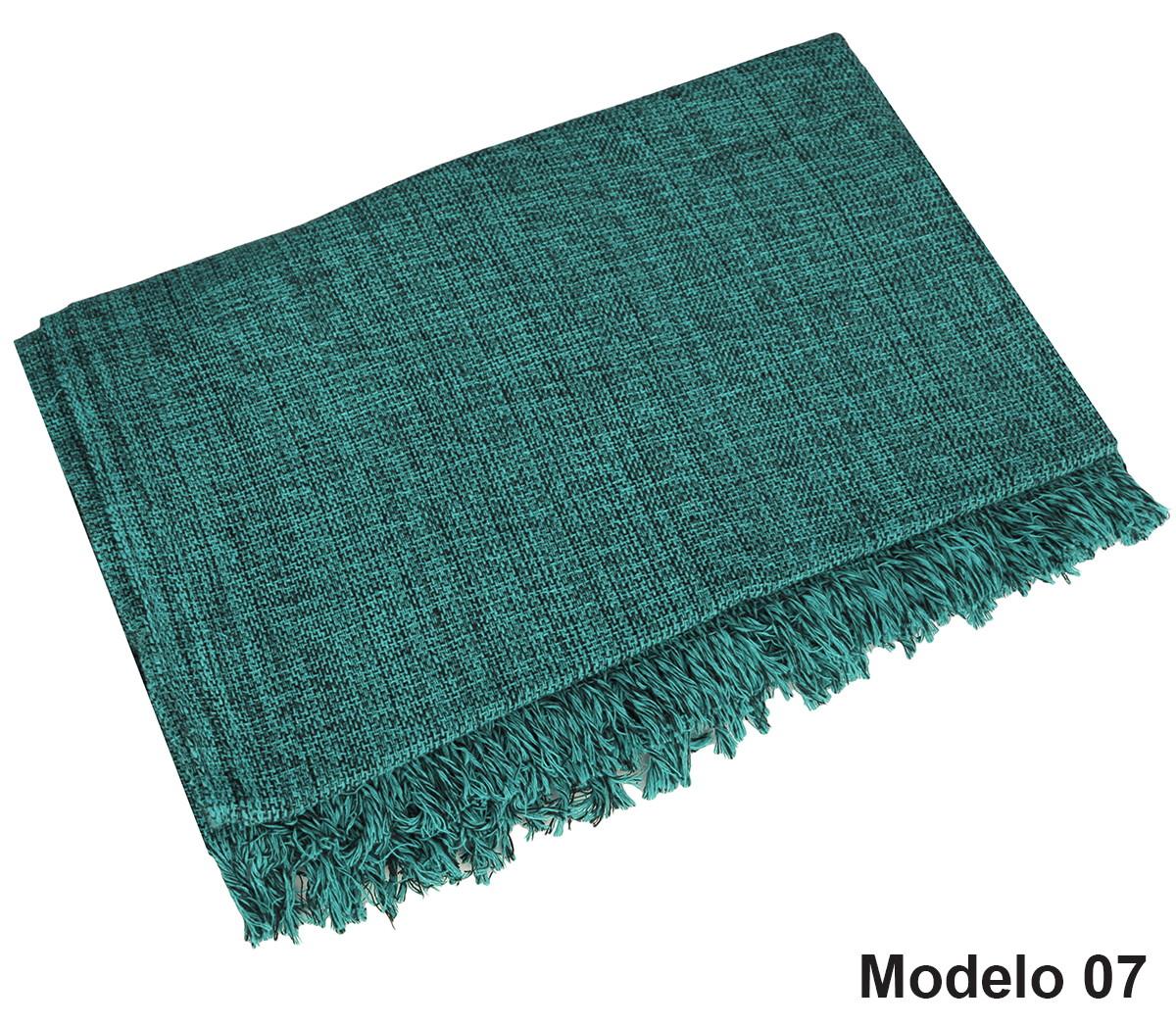 Manta Para Sofá Em Algodão Verde Mesclado Gigante 2,40X1 ...