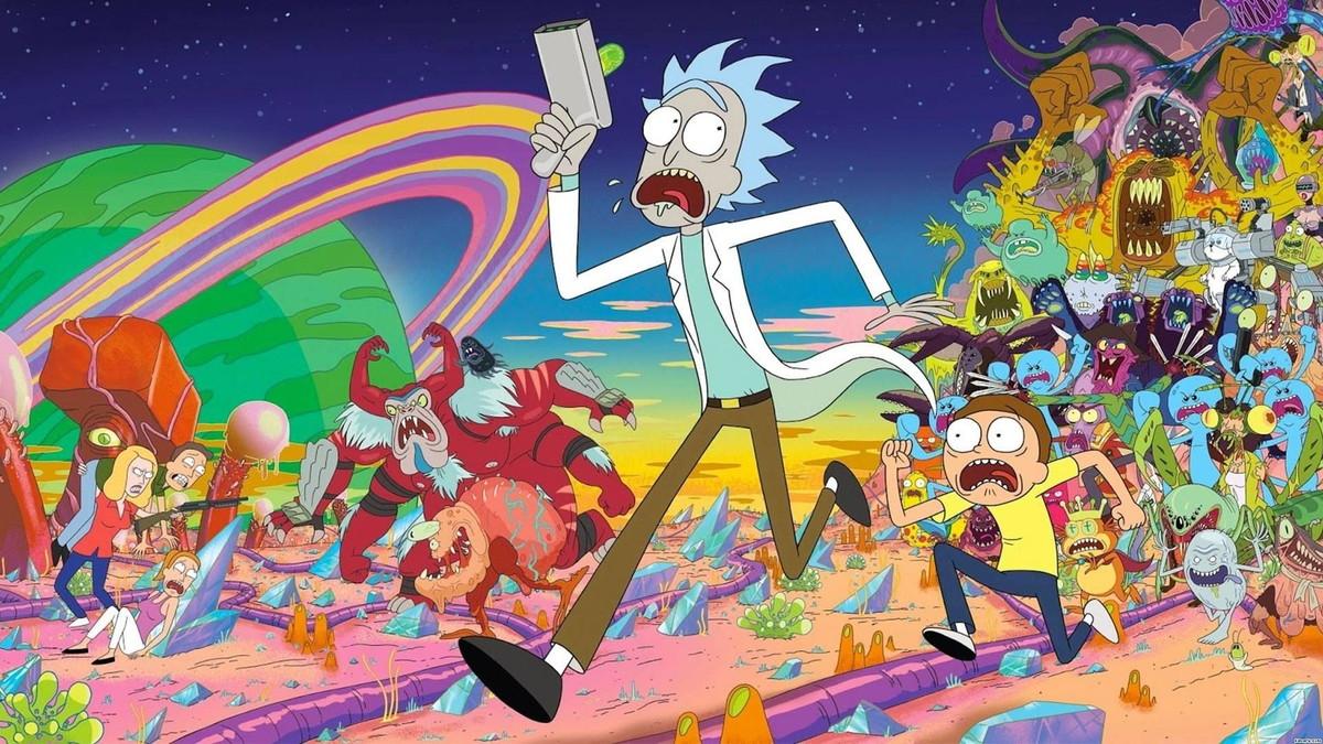 Painel 2x1 Rick e Morty no Elo7 | Festa Expressa (1175D0C)